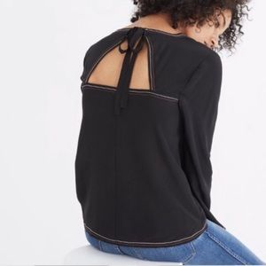 Madewell • silk tie back top